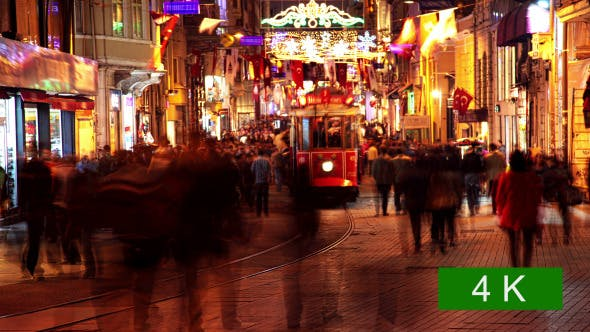 Thumbnail for Pedestrian Street in Istanbul at Night