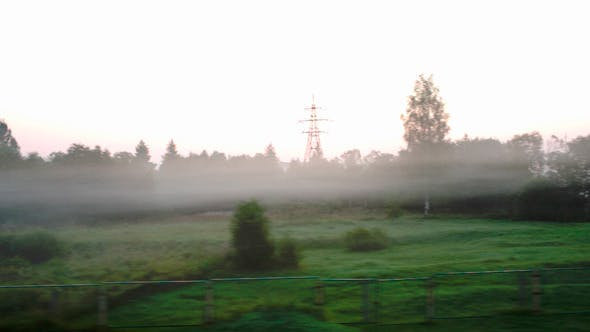 Thumbnail for Passing By Countryside In A Fog