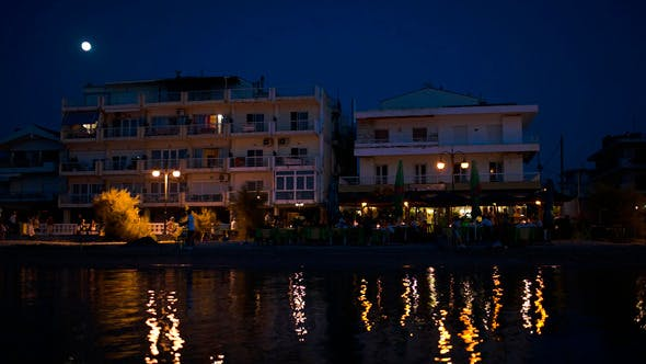 Night Life On Summer Resort