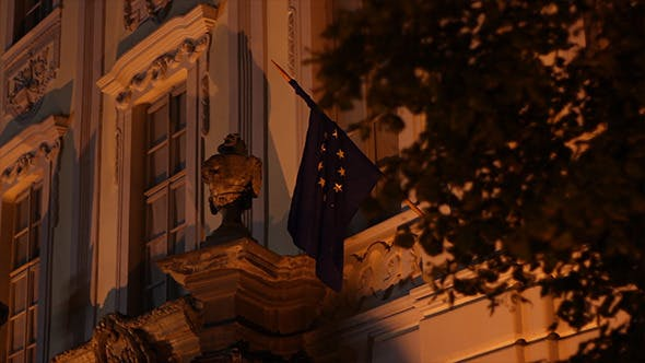 Night European Union Flag