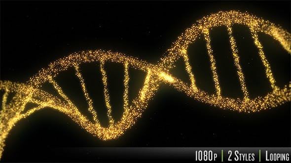 Thumbnail for DNA Double Helix Strand of Particles