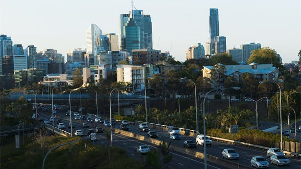 Thumbnail for Brisbane City Golden Hour Highway