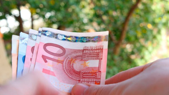Thumbnail for Hands Recount Banknote Euros