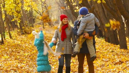 Thumbnail for Family Walking in Park