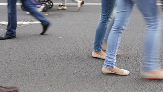 Thumbnail for People Walking the City 4