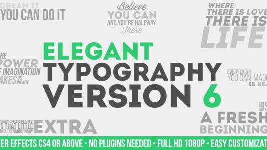Elegante tipografía V6