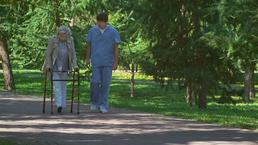 Thumbnail for Beneficial Stroll for Senior Patient