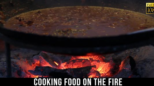 Thumbnail for Cooking Food On The Fire In The Cauldron