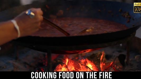Cover Image for Cooking Food On The Fire In The Cauldron 2