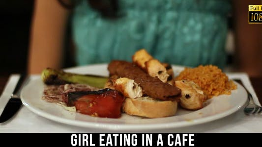 Thumbnail for Girl Eating In A Cafe 7