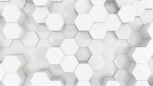 Cover Image for White Plastic Hexagons 4K