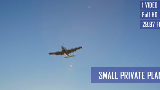 Thumbnail for Small Private Airplane In Blue Sky