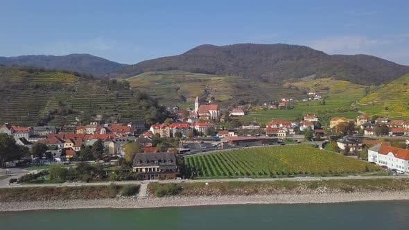 Thumbnail for Aerial of Spitz, Wachau Valley