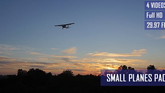 Thumbnail for Small Private Airplane Flying At Low Altitude