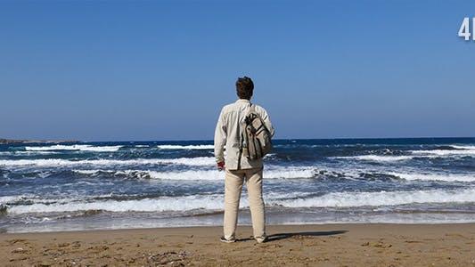 Person And Sea