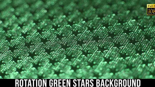 Cover Image for Rotation Green Stars Background