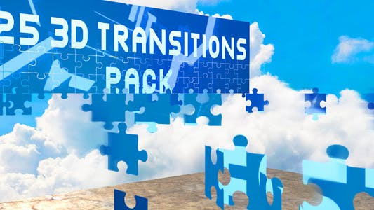 Thumbnail for 3D Transitions Pack