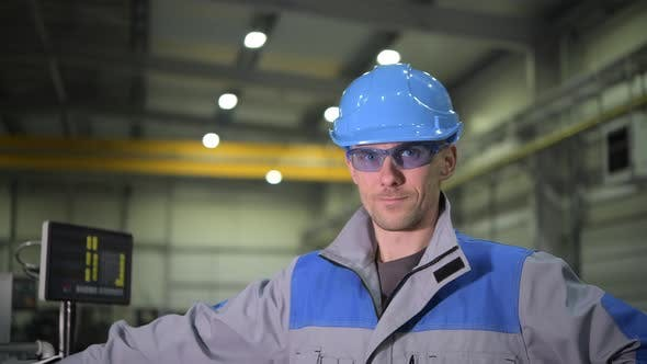 Thumbnail for Caucasian Worker Wearing Safety Glasses