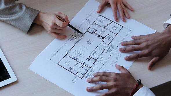 Thumbnail for Real Estate Broker Showing Apartment Plan