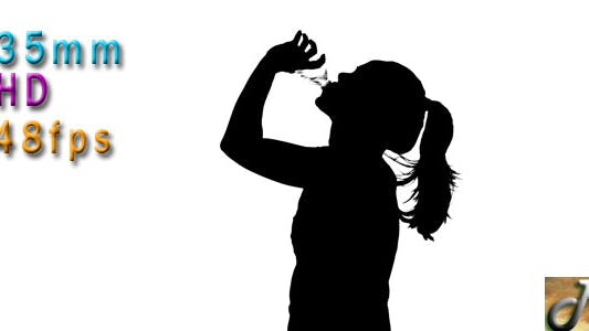 Thumbnail for Woman Drinking Water Silhouette