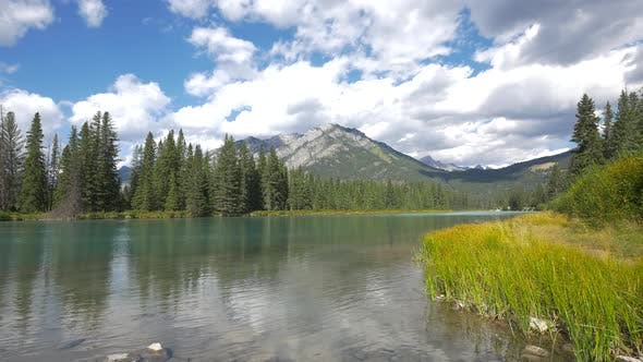 Thumbnail for Pan right of Bow River, Banff National Park
