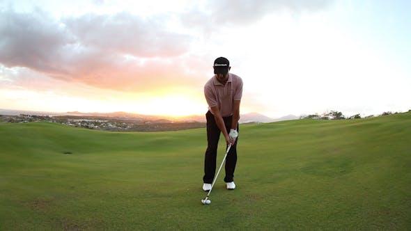 Thumbnail for Pro Golf Swing Amazing Sunset