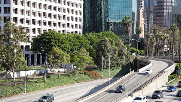 Thumbnail for Timelapse Traffic Freeway Downtown Los Angeles La