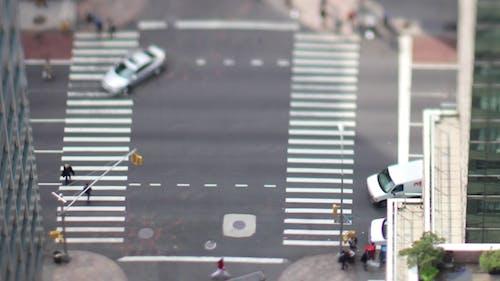 Manhattan New York Street Traffic Cars Taxi