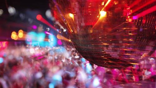 Night Club Glitterball Disco