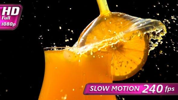 Ausbrüche von Orangensaft