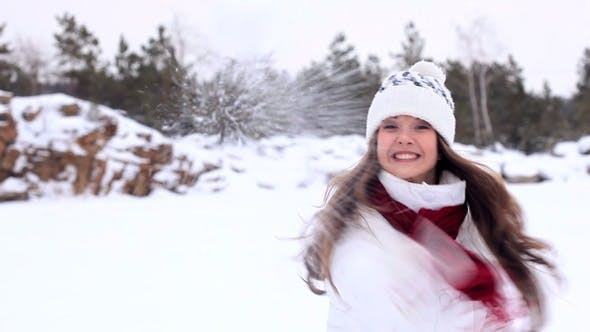 Thumbnail for Girl Throws a Snowball