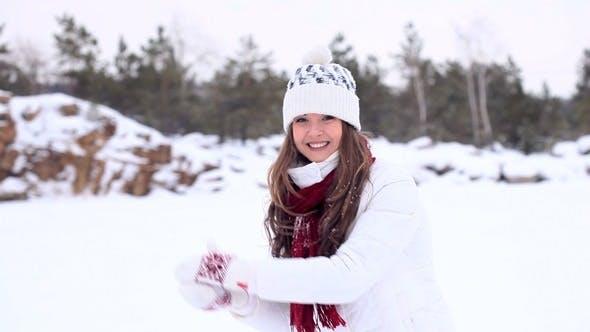 Thumbnail for Winter Girl Throws Snowball at You