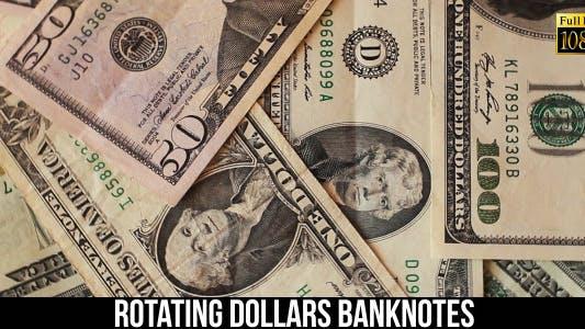 Rotating Dollars Banknotes