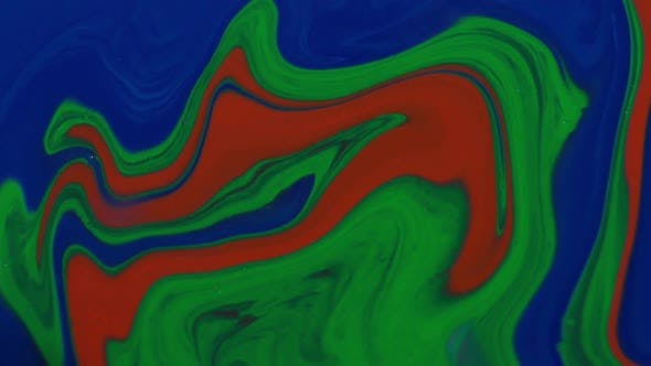 Thumbnail for Slow Motion Macro Colorful Swirling Paint
