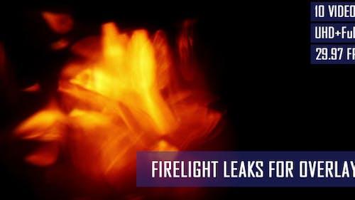 Fire Light Leaks For Overlays