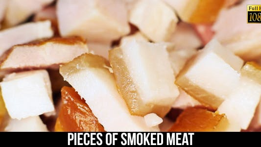 Pieces Of Smoked Meat