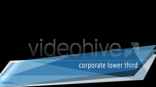 Thumbnail for Corporate Lower Third - 5 colors