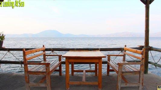 Terrace Looking At Sea