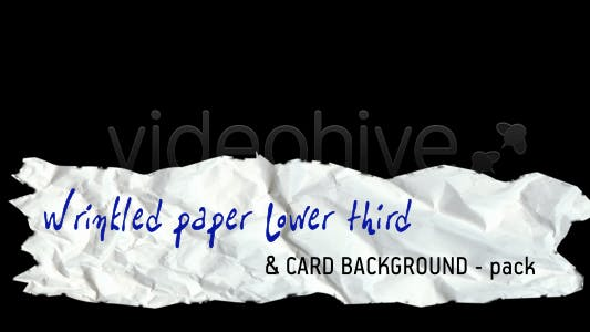 Thumbnail for Wrinkled paper LOWER THIRD & CARD BACKGROUND –pack