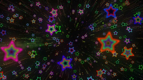 VJ Shooting Star Colorful Background