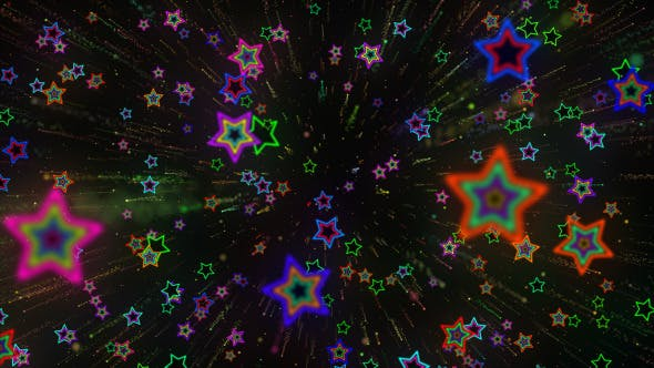 Thumbnail for VJ Shooting Star Colorful Background