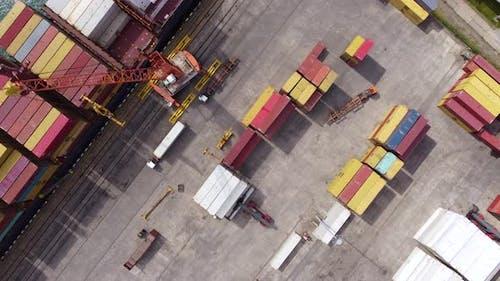Ship Unloading In Port