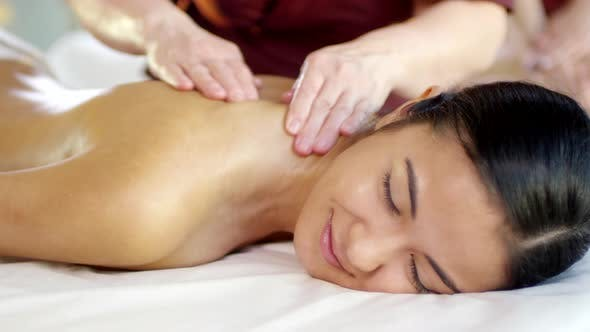 Thumbnail for Middle Eastern Young Woman Having Back Massage