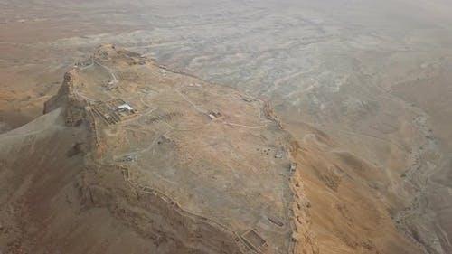 Long Shot of Masada Fortress