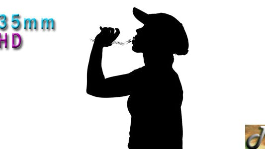Thumbnail for Woman Drinking Water Silhouette 2