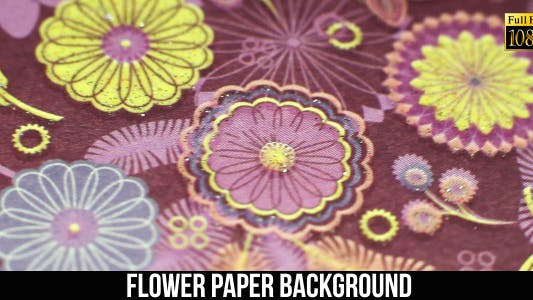 Thumbnail for Flower Paper Background 10