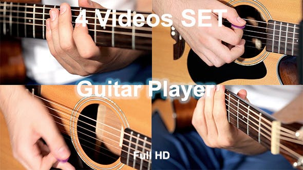 Thumbnail for Men Playing At Guitar In Music Studio