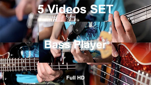 Thumbnail for Bass Player At Guitar In Studio