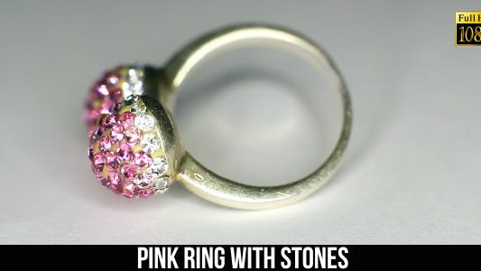 Thumbnail for Pink Ring With Stones