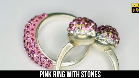 Thumbnail for Pink Ring With Stones 2